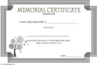 FREE Donation in Memory of Certificate Template 4