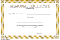 FREE Donation in Memory of Certificate Template 5
