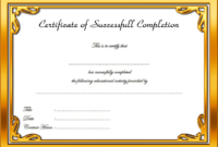 FREE Drug Rehab Certificate of Completion Template 1