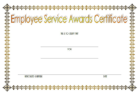 FREE Employee Certificate of Service Template 1