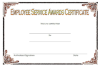 FREE Employee Certificate of Service Template 2