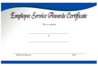 FREE Employee Certificate of Service Template 3