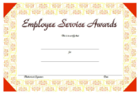 FREE Employee Certificate of Service Template 4