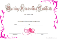 FREE Family and Marriage Counseling Certificate Template 1
