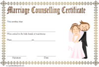 FREE Family and Marriage Counseling Certificate Template 3
