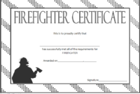 FREE Fire Department Certificate Template 1