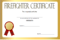 FREE Fire Department Certificate Template 3