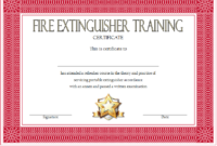 FREE Fire Extinguisher Training Certificate Template 1