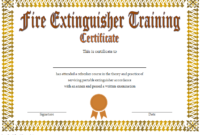 FREE Fire Extinguisher Training Certificate Template 2