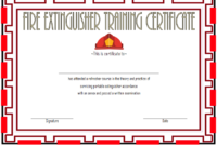 FREE Fire Extinguisher Training Certificate Template 3