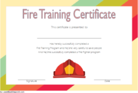 FREE Fire Fighting Certificate Template 1