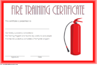 FREE Fire Fighting Certificate Template 2