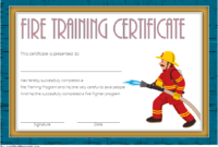 FREE Fire Fighting Certificate Template 3