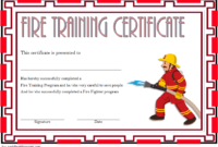 FREE Fire Fighting Certificate Template 4
