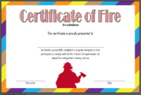 FREE Fire Safety Training Certificate Template 1