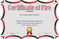 FREE Fire Safety Training Certificate Template 2