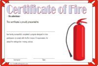 FREE Fire Safety Training Certificate Template 3