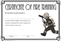 FREE Fire Safety Training Certificate Template 4