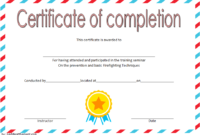 FREE Junior Firefighter Certificate Template 1