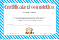 FREE Junior Firefighter Certificate Template 2