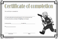 FREE Junior Firefighter Certificate Template 3