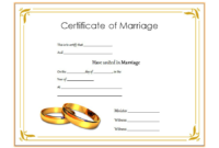 FREE Marriage Certificate Template Printable 1