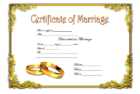 FREE Marriage Certificate Template Printable 2