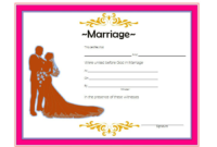 FREE Marriage Certificate Template Printable 3