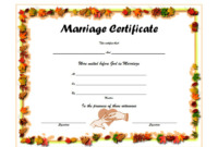 FREE Marriage Certificate Template Printable 4
