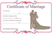 FREE Marriage Certificate Template Printable 5