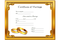 FREE Marriage Certificate Template Printable 6
