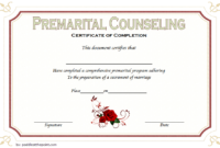 FREE Marriage Counseling Completion Certificate Template 1
