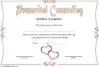 FREE Marriage Counseling Completion Certificate Template 2