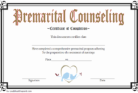 FREE Marriage Counseling Completion Certificate Template 3