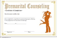 FREE Marriage Counseling Completion Certificate Template 4