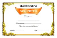 FREE Outstanding Volunteer Certificate Template 1