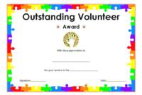 FREE Outstanding Volunteer Certificate Template 2