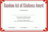 FREE Random Acts of Kindness Certificate Template 1