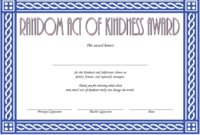 FREE Random Acts of Kindness Certificate Template 2