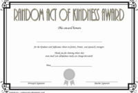 FREE Random Acts of Kindness Certificate Template 3