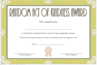 FREE Random Acts of Kindness Certificate Template 4