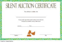 FREE Silent Auction Certificate Template 1