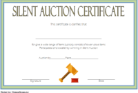 FREE Silent Auction Certificate Template 2
