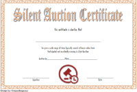 FREE Silent Auction Certificate Template 3