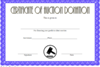 FREE Silent Auction Donation Certificate Template 1