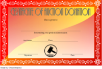 FREE Silent Auction Donation Certificate Template 2