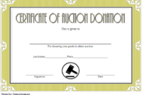 FREE Silent Auction Donation Certificate Template 3