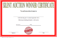 FREE Silent Auction Winner Certificate Template 2