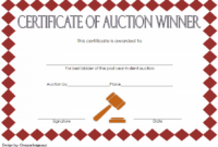 FREE Silent Auction Winner Certificate Template 3