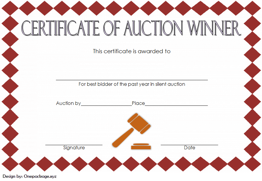 silent auction certificate template, silent auction gift certificate template, silent auction winner certificate template, silent auction donation certificate template, silent auction certificate examples